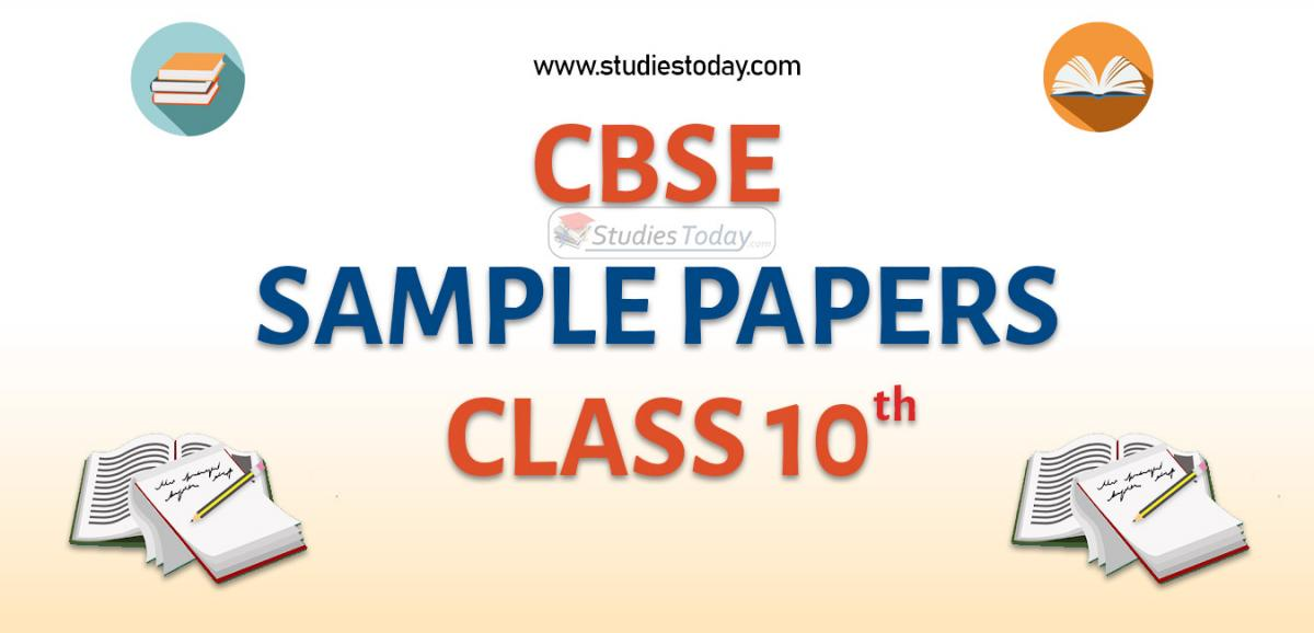 CBSE Sample Paper for Class 10