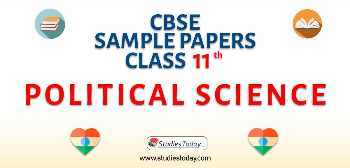CBSE Sample Paper for Class 11 political science
