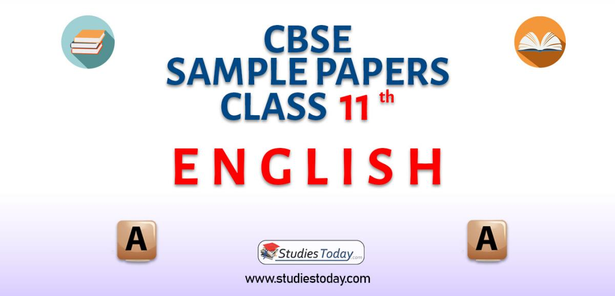 CBSE Sample Paper for Class 11 english