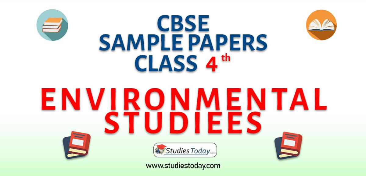 CBSE Sample Paper for Class 4 Environmental Studies