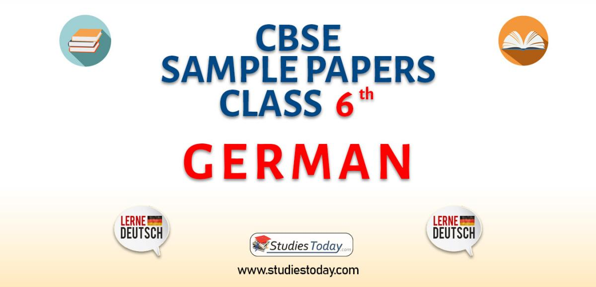 CBSE Sample Paper for Class 6 german