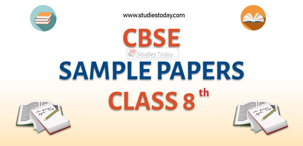CBSE Sample Paper for Class 8