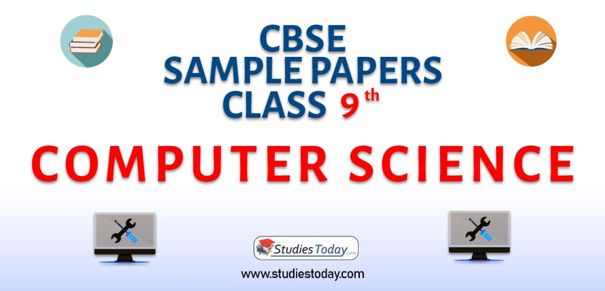 CBSE Sample Paper for Class 9 Computer Science