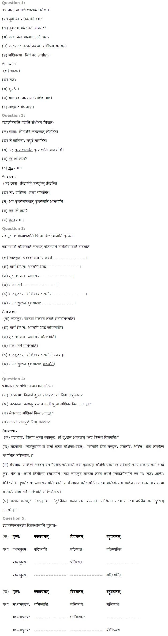 NCERT Solutions for Class 7 Sanskrit Ruchira for Chapter 11 समवाये ही दुर्जय