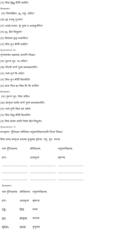 NCERT Solutions for Class 7 Sanskrit Ruchira for Chapter 12 कल्पलतेव विद्या