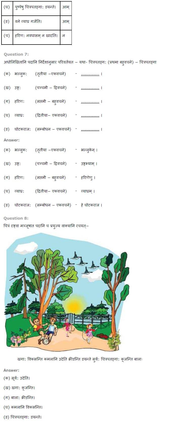 NCERT Solutions for Class 7 Sanskrit Ruchira for Chapter 15 लालनगीतम