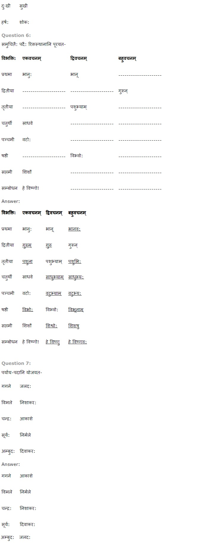 NCERT Solutions for Class 7 Sanskrit Ruchira for Chapter 9 विमानायं रचयाम