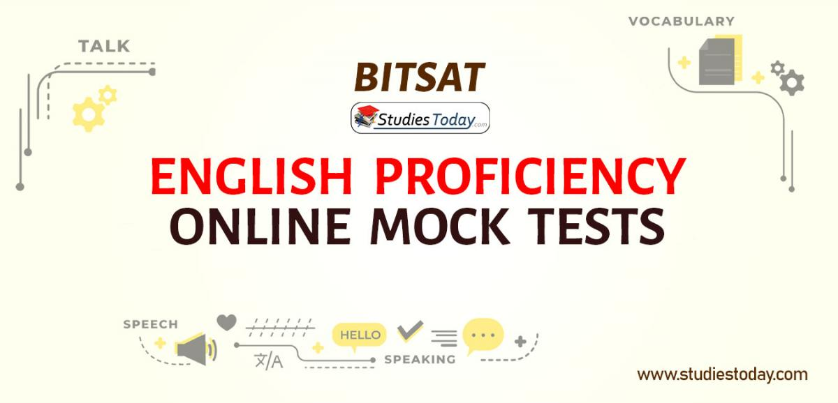 BITSAT English Proficiency Online Mock tests