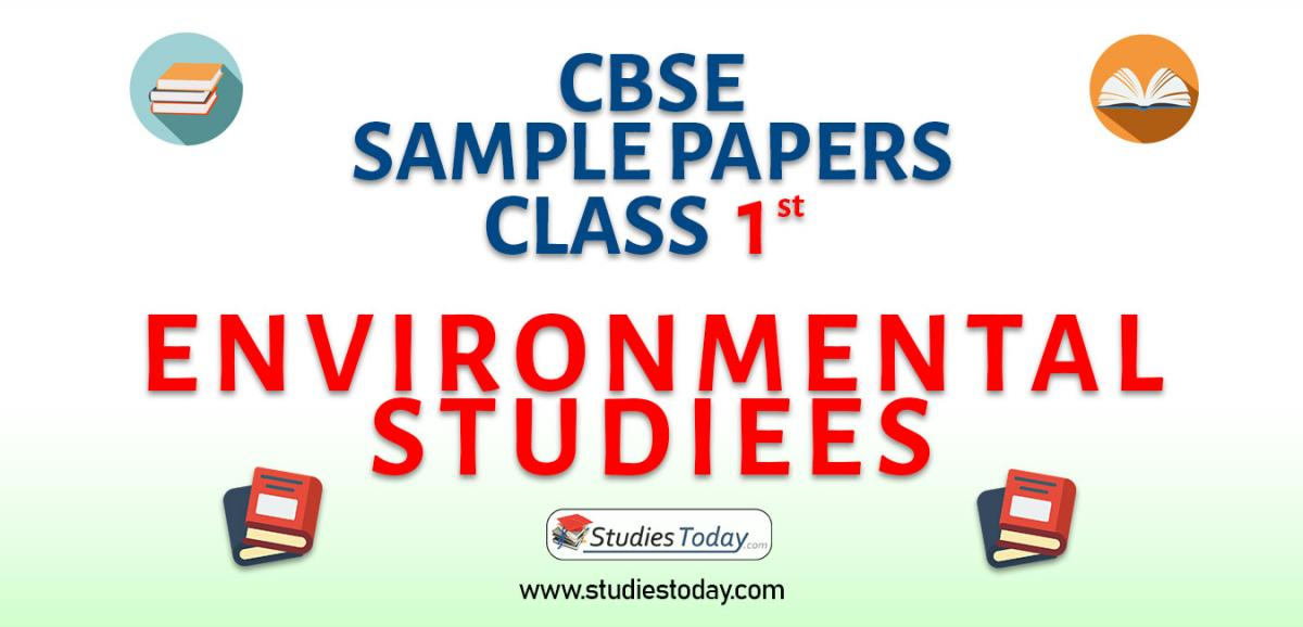 CBSE Sample Paper for Class 1 Environmental Studies