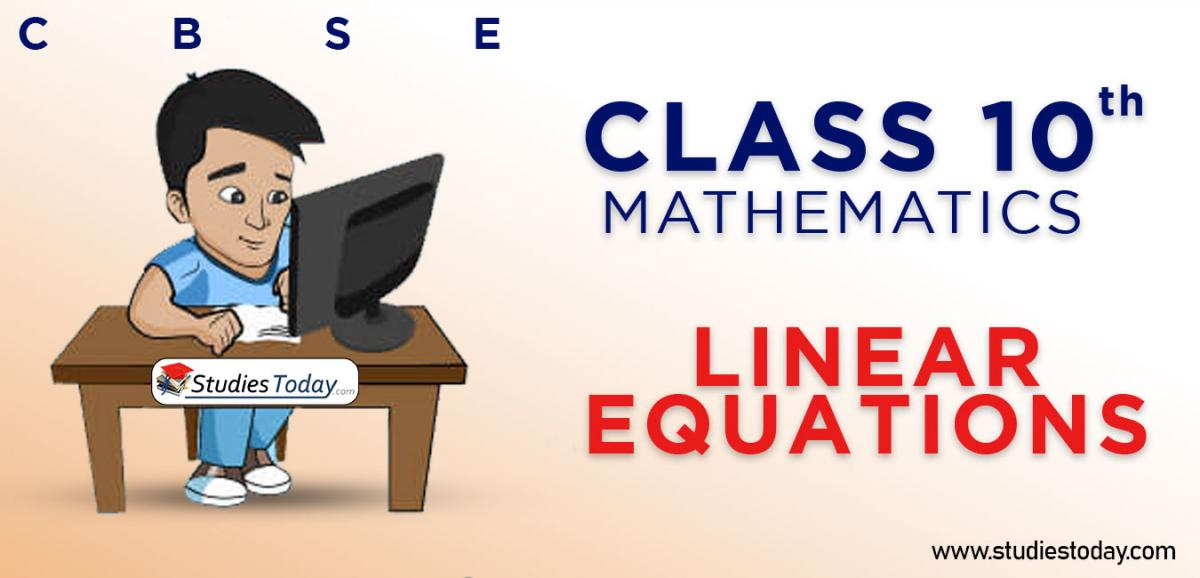 CBSE Class 10 Linear Equations Online Mock Test