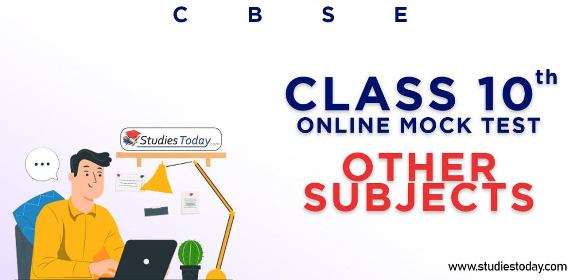 CBSE Class 10 Other Subjects Online Mock Test