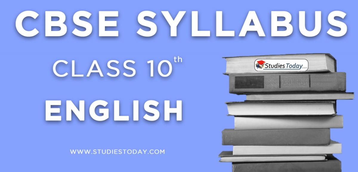 CBSE Class 10 Syllabus for English 2020 2021
