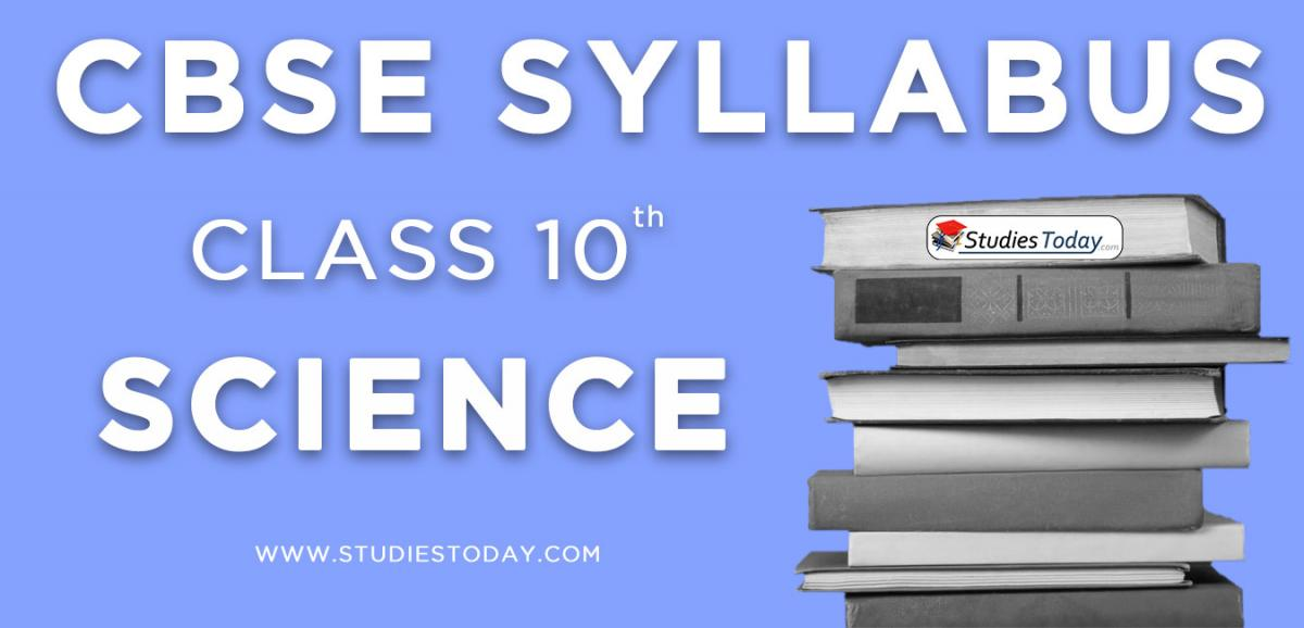 CBSE Class 10 Syllabus for Science 2020 2021