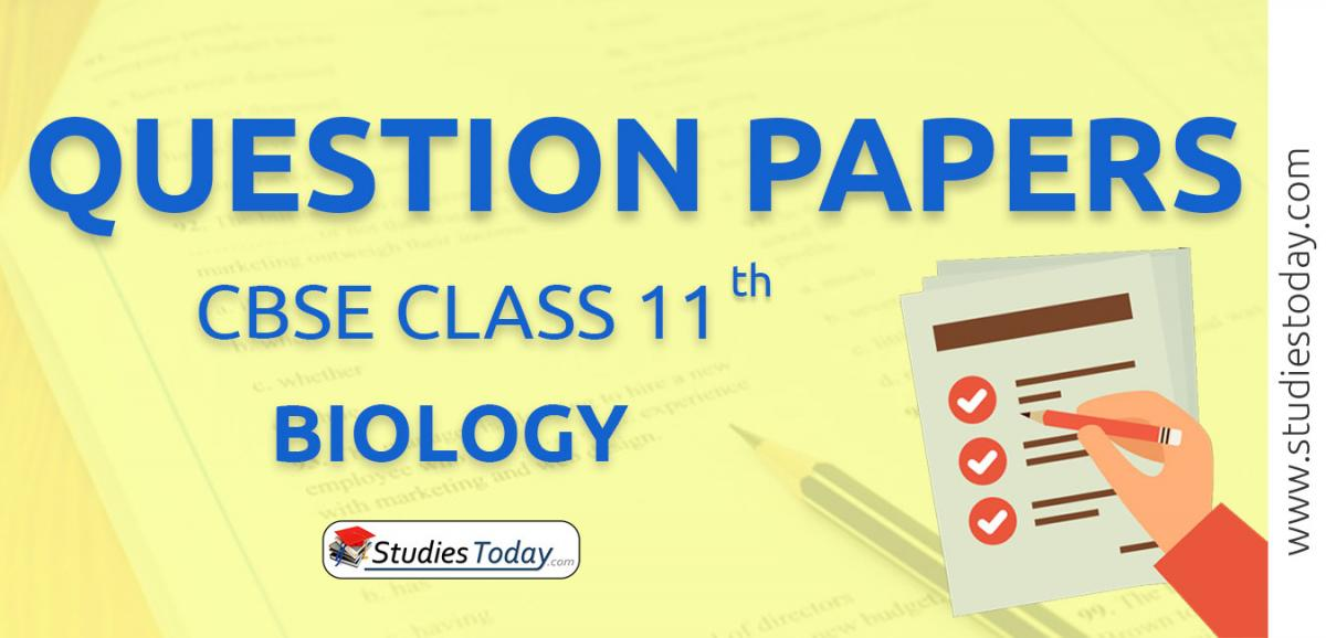 CBSE Class 11 Biology Question Papers