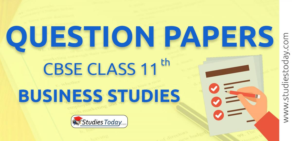 CBSE Class 11 Business Studies Question Papers