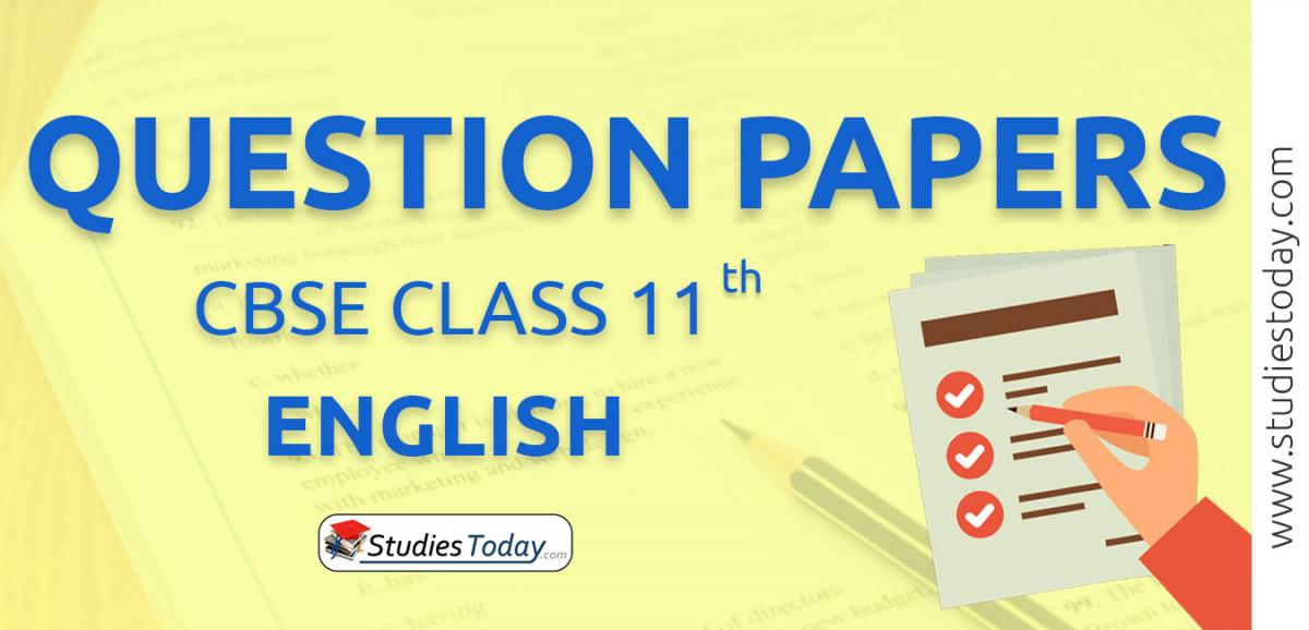 CBSE Class 11 English Question Papers