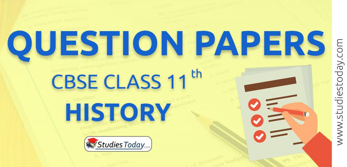 CBSE Class 11 History Question Papers