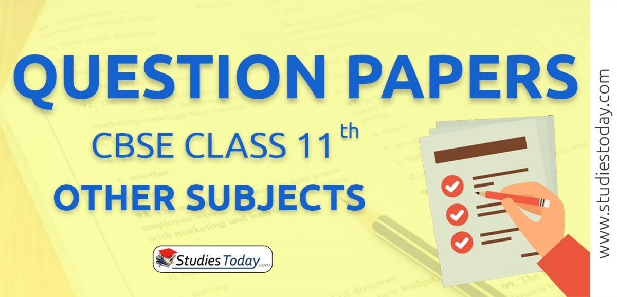 CBSE Class 11 Other Subjects Question Papers