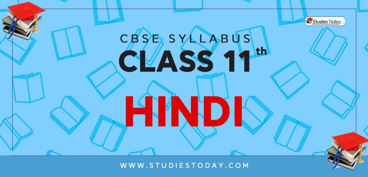CBSE Class 11 Syllabus for Hindi 2020 2021