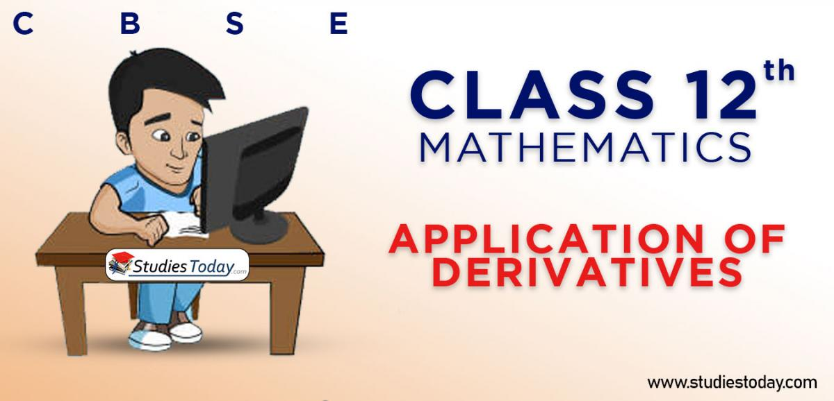 CBSE Class 12 Application Of Derivatives Online Mock Test