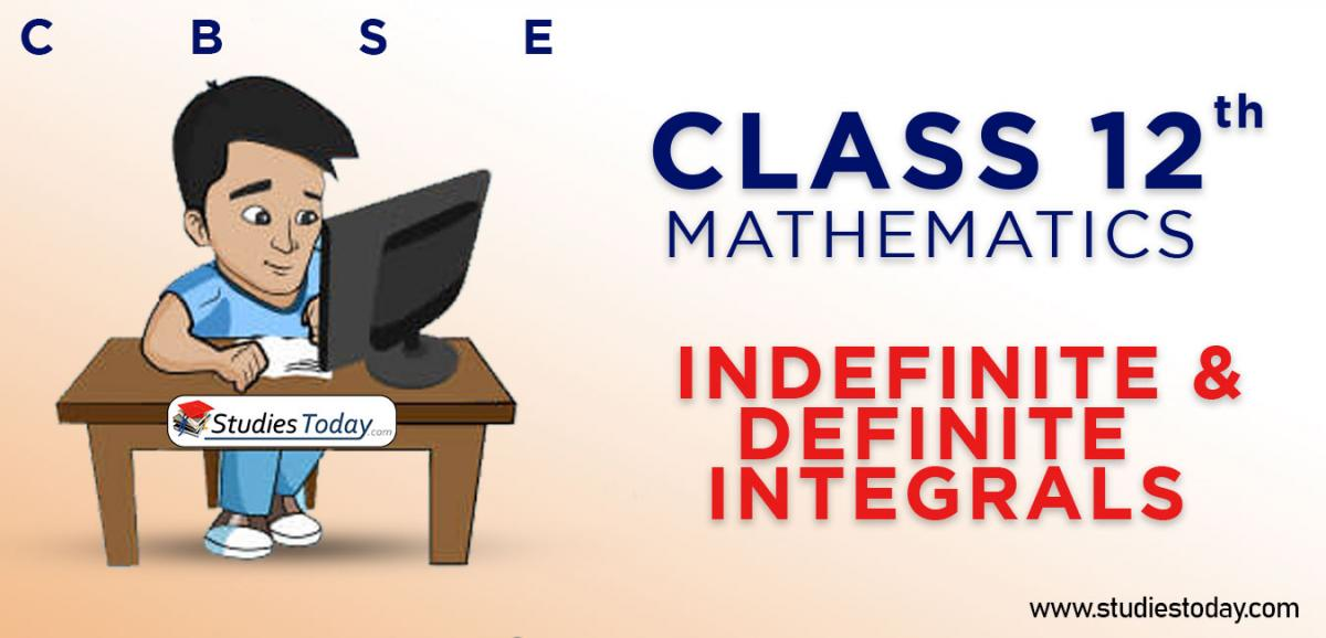 CBSE Class 12 Indefinite and Definite Integrals Online Mock Test