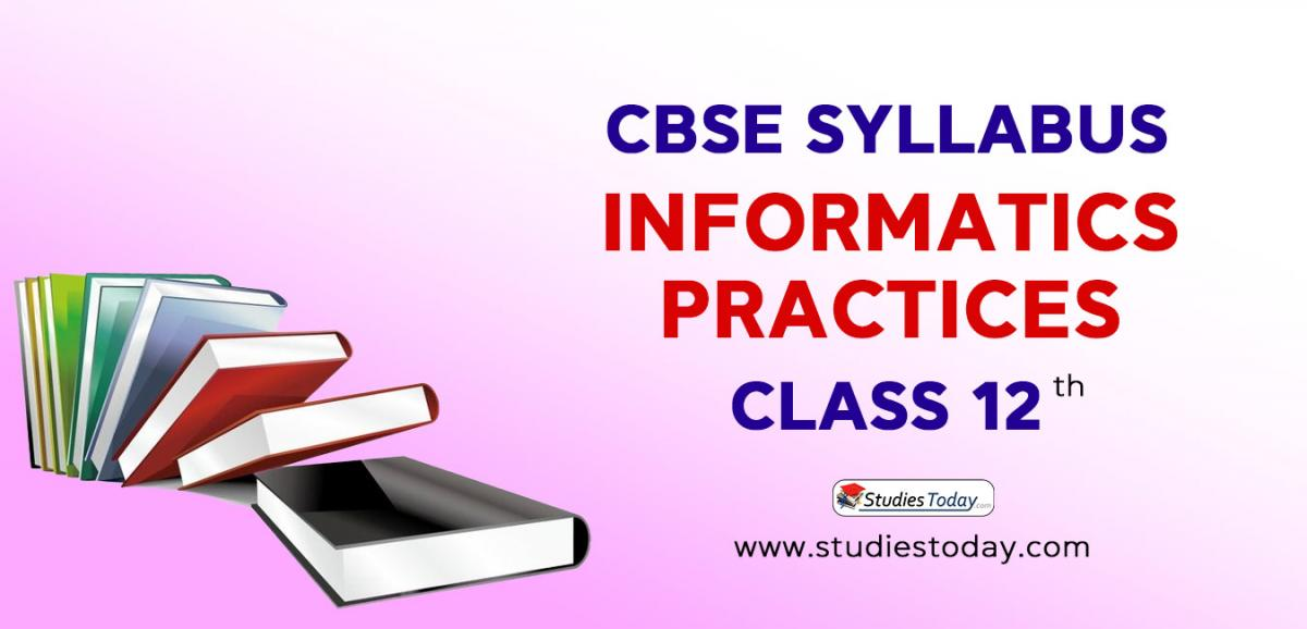 CBSE Class 12 Syllabus for Informatics Practices 2020 2021