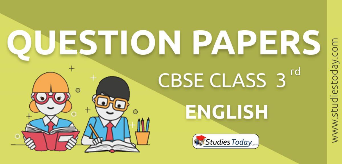 CBSE Class 3 English Question Papers