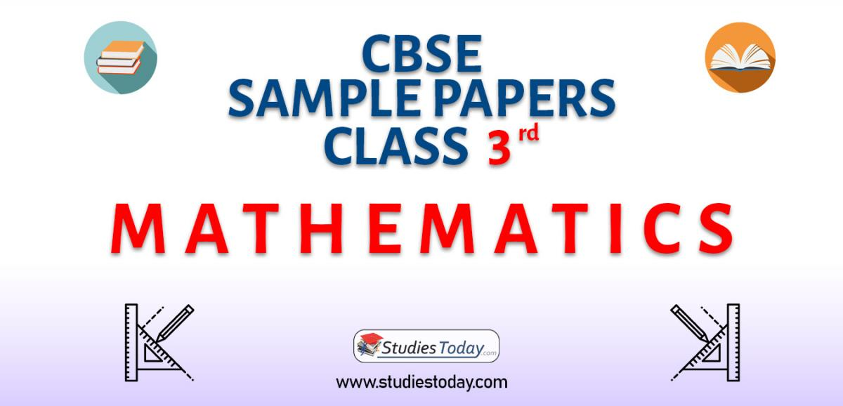 CBSE Sample Paper for Class 3 Mathematics