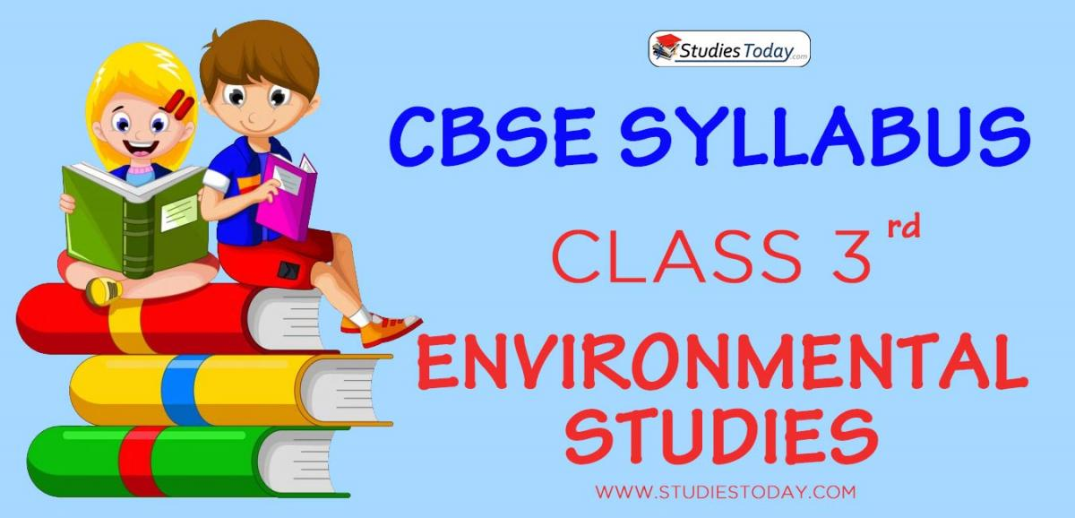 CBSE Class 3 Syllabus for Environmental Studies 2020 2021