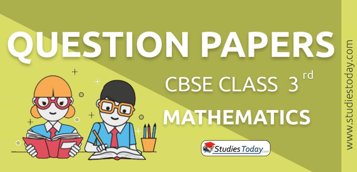 CBSE Class 3 Mathematics Question Papers