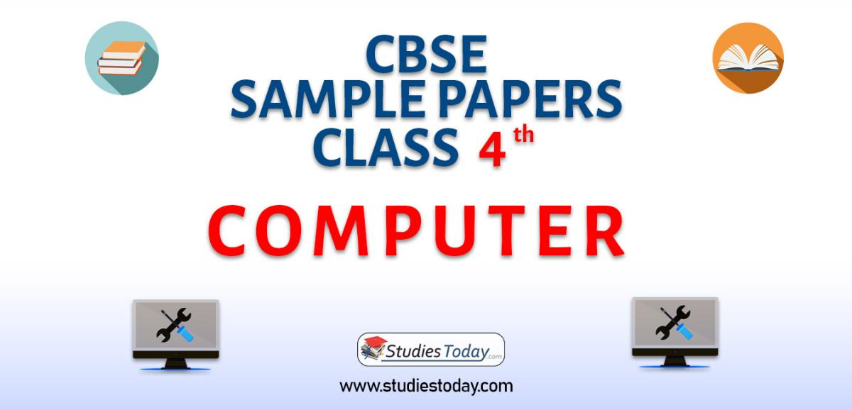 CBSE Sample Paper for Class 4 Computers