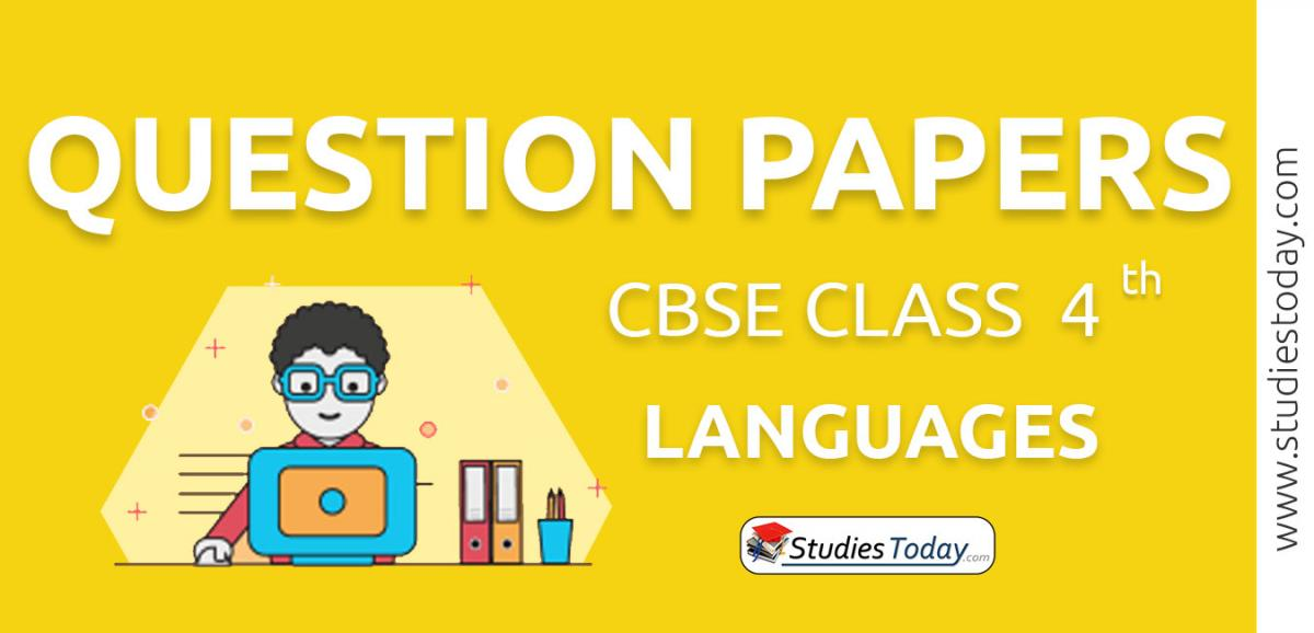 CBSE Class 4 Languages Question Papers