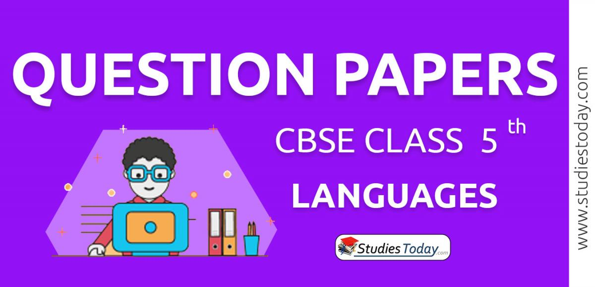 CBSE Class 5 Languages Question Papers