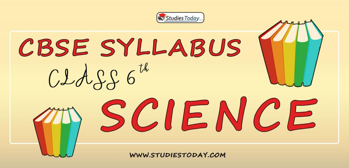 CBSE Class 6 Syllabus for Science 2020 2021