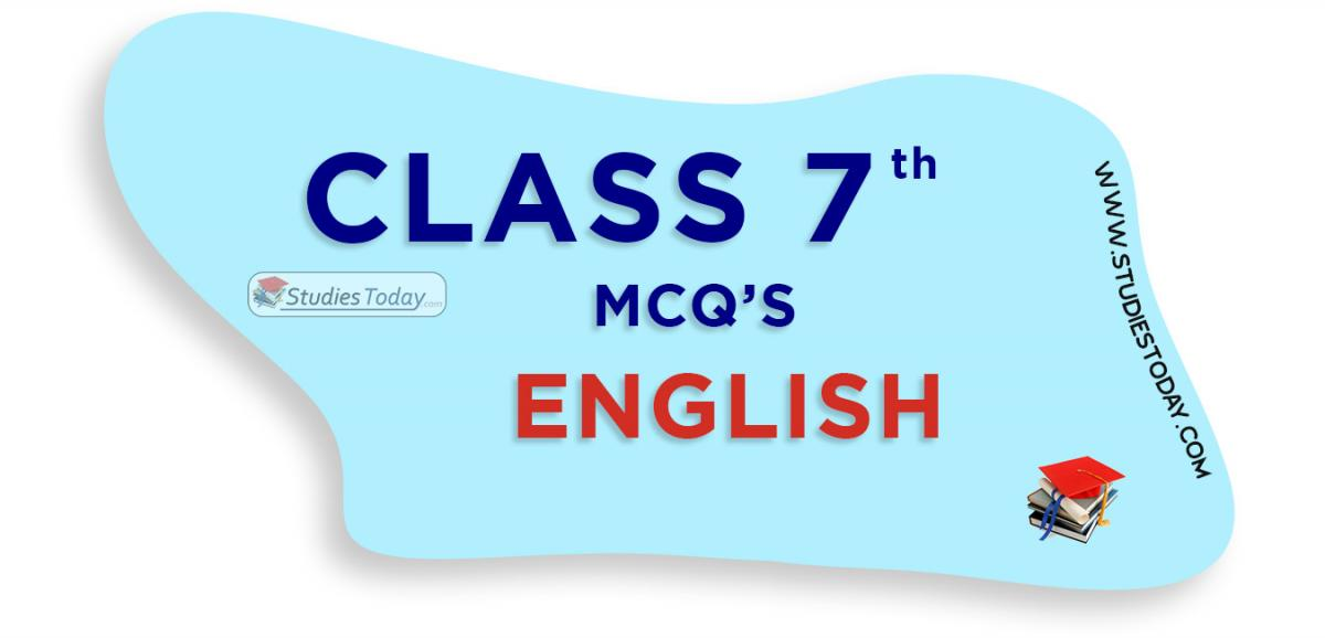 CBSE Class 7 English MCQs