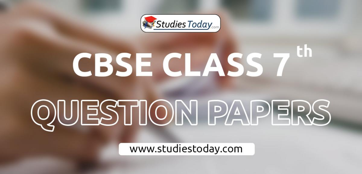 CBSE Class 7 Question Papers