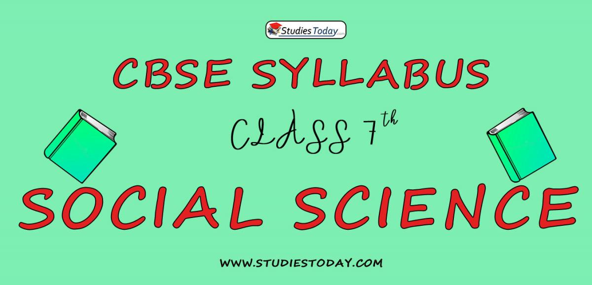 CBSE Class 7 Syllabus for Social Science 2020 2021