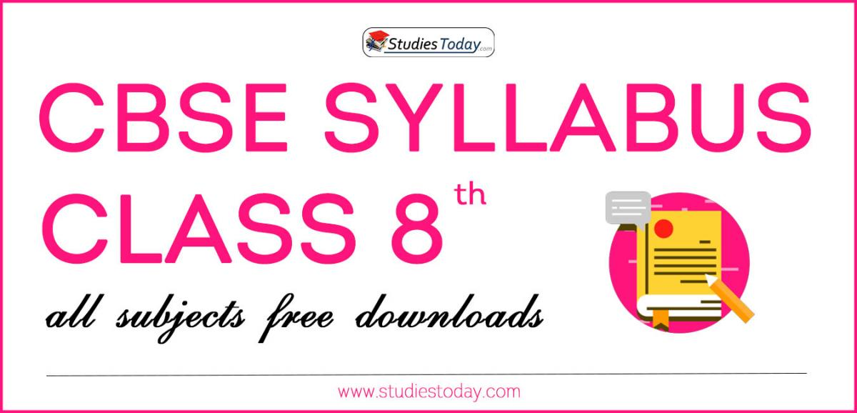 CBSE Class 8 Syllabus for All Subjects