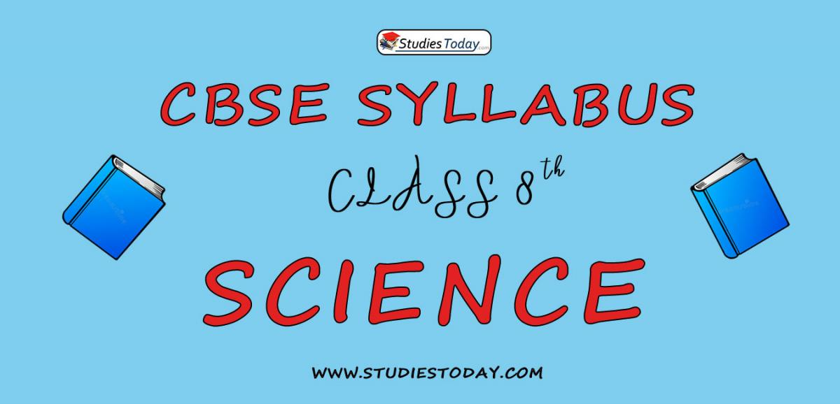 CBSE Class 8 Syllabus for Science 2020 2021