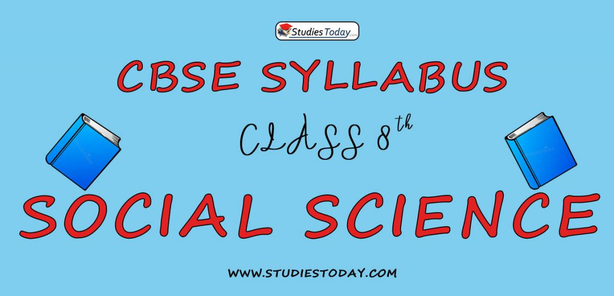 CBSE Class 8 Syllabus for Social Science 2020 2021