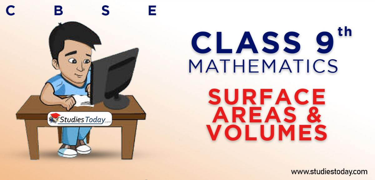 CBSE Class 9 Surface areas and Volumes Online Mock Test