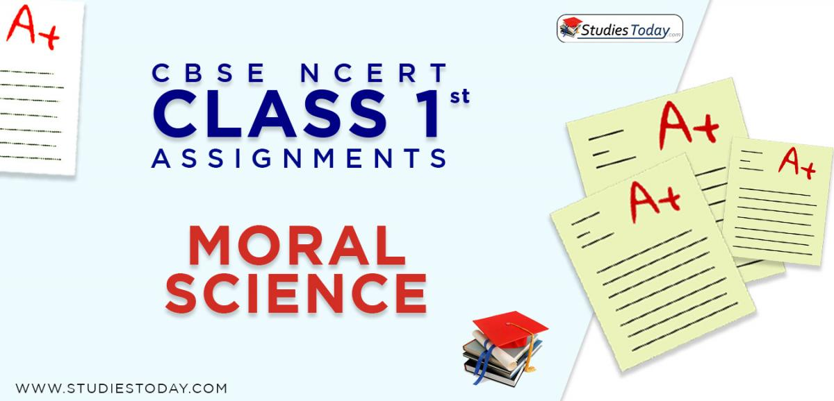 CBSE NCERT Assignments for Class 1 Moral Science