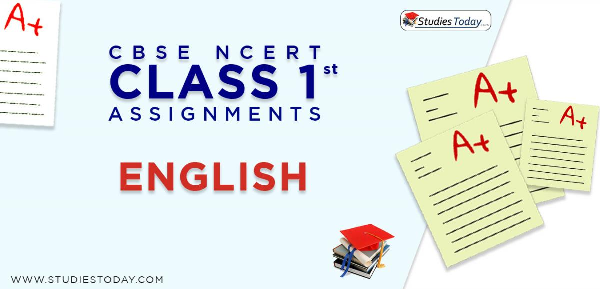 CBSE NCERT Assignments for Class 1 English