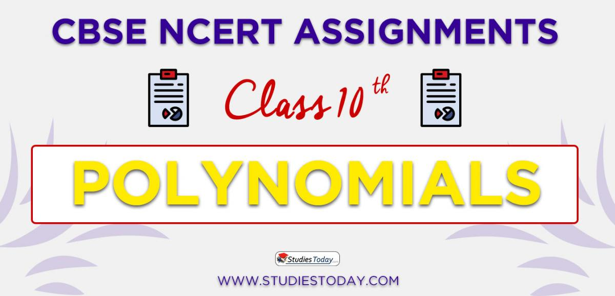 CBSE NCERT Assignments for Class 10 Polynomials