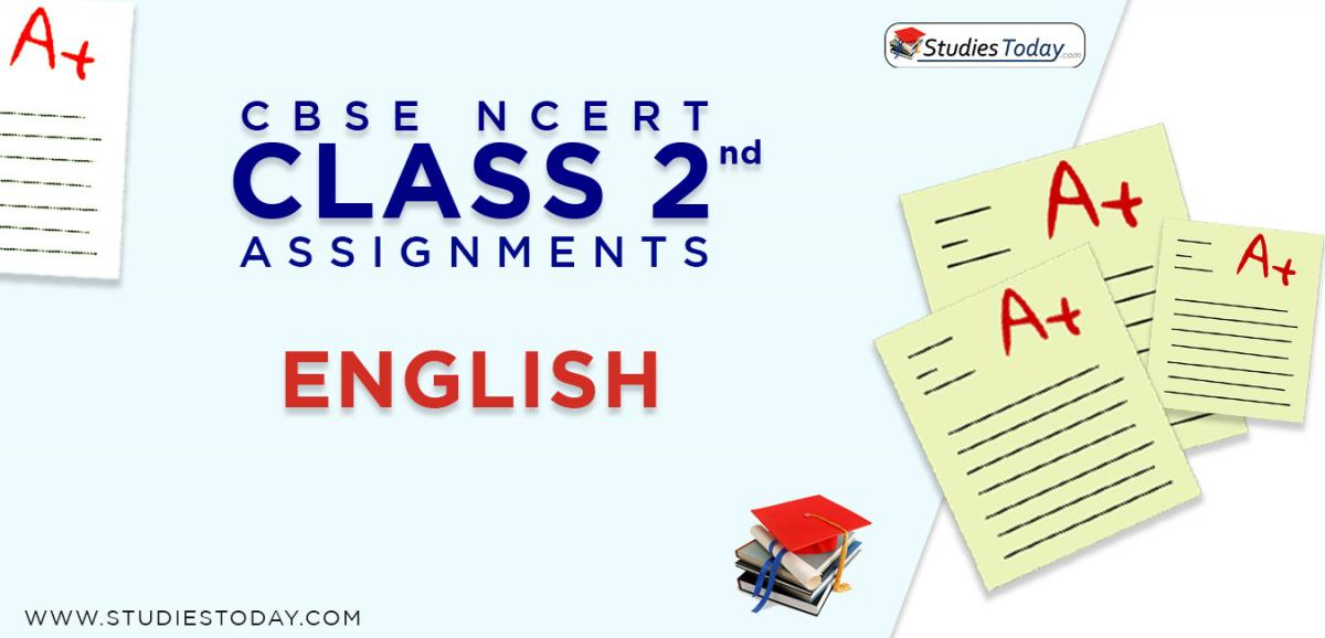 CBSE NCERT Assignments for Class 2 English