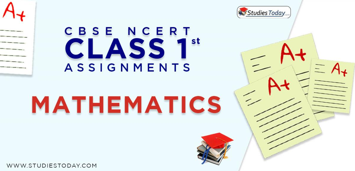 CBSE NCERT Assignments for Class 1 Mathematics