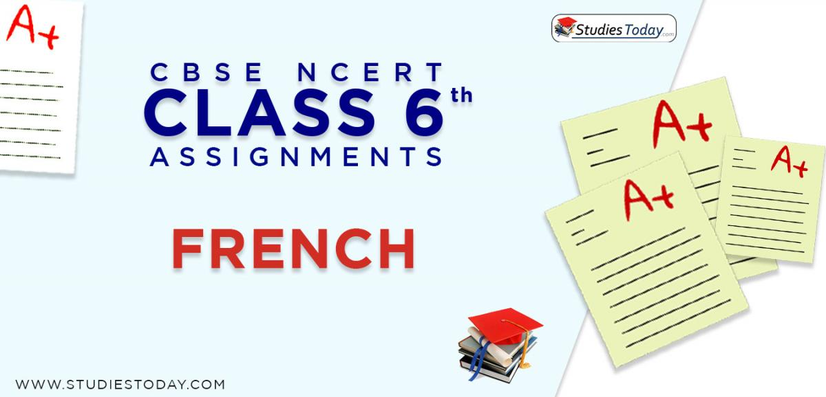 CBSE NCERT Assignments for Class 6 French
