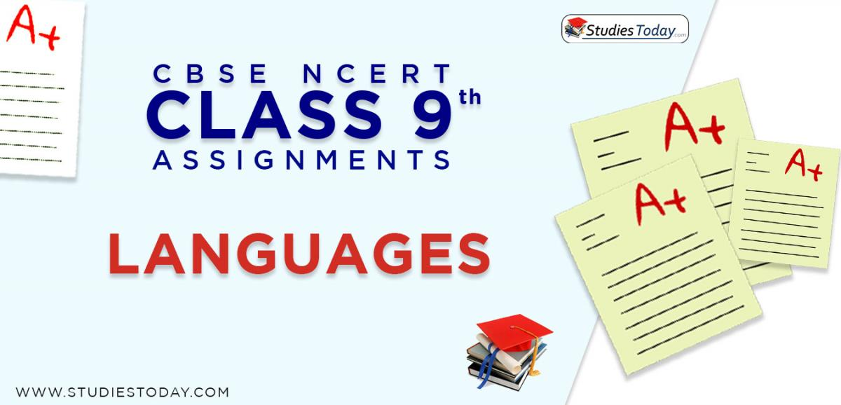 CBSE NCERT Assignments for Class 9 Languages