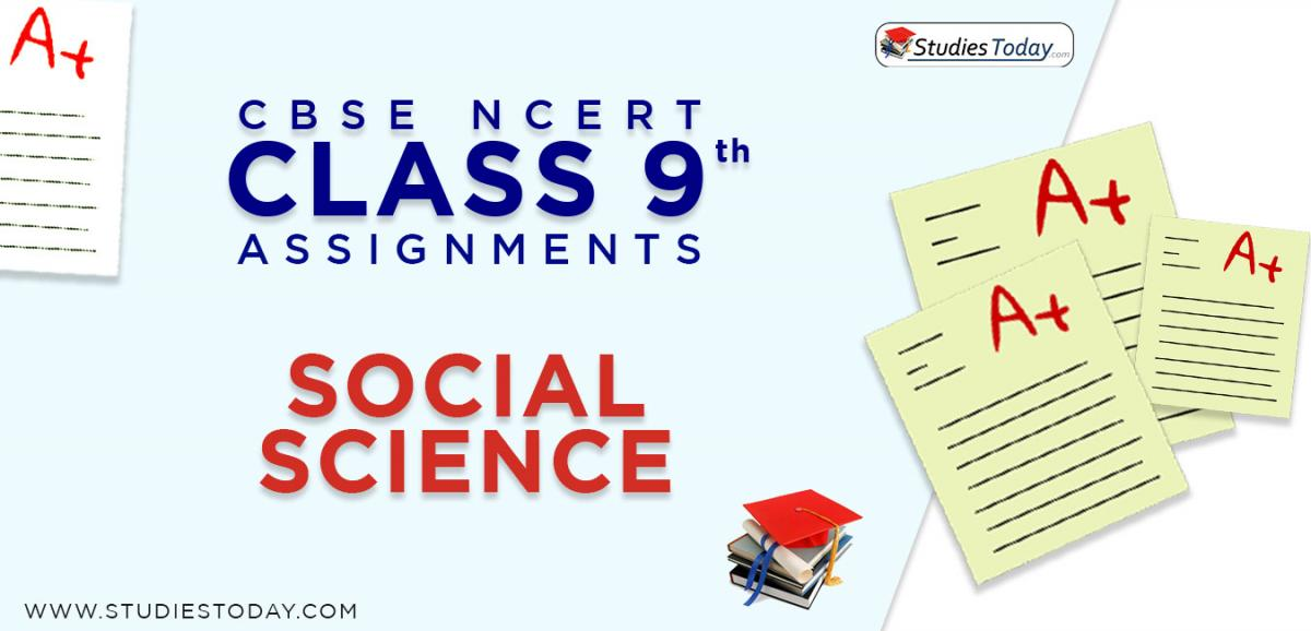 CBSE NCERT Assignments for Class 9 Social Science