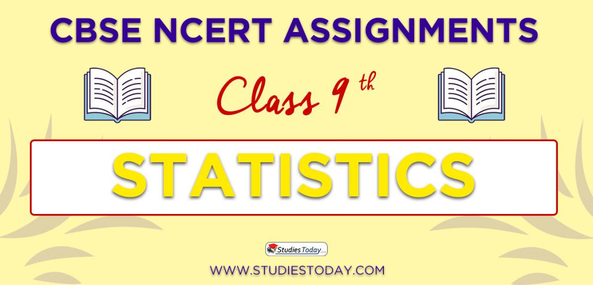 CBSE NCERT Assignments for Class 9 Statistics